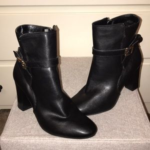 Merona black heel booties Size 6 1/2